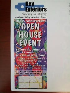 Key Exteriors 10 Year Anniversary Open House Elkhart, IN